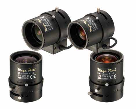 انواع لنزهای سیستم مداربسته